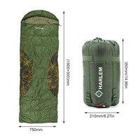 Harlem Ultra Light Outdoor Envelope Sleeping Bag Portable Warm Cozy Camping Hiking Hooded Sleeping Bags HS235