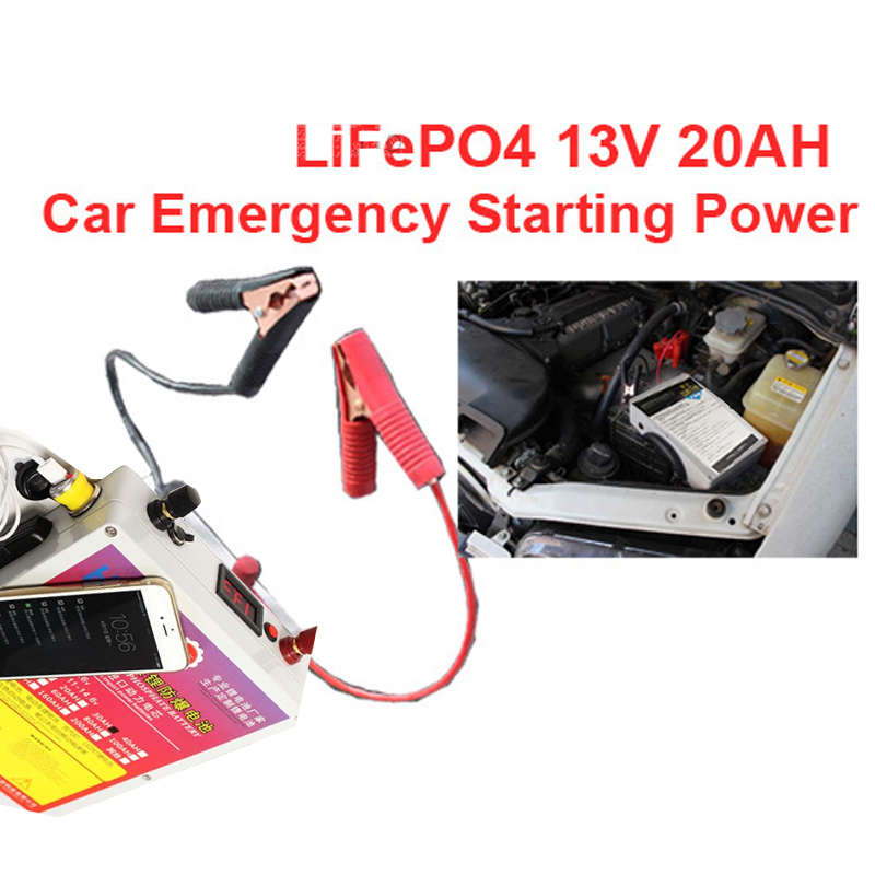2.7kg car engine starting power ithium iron phosphate battery 13v lithium battery pack LiFePO4 20AH battery pack LiFePO4 battery вольтметр 50v 50a lifepo4 lipo tf01n