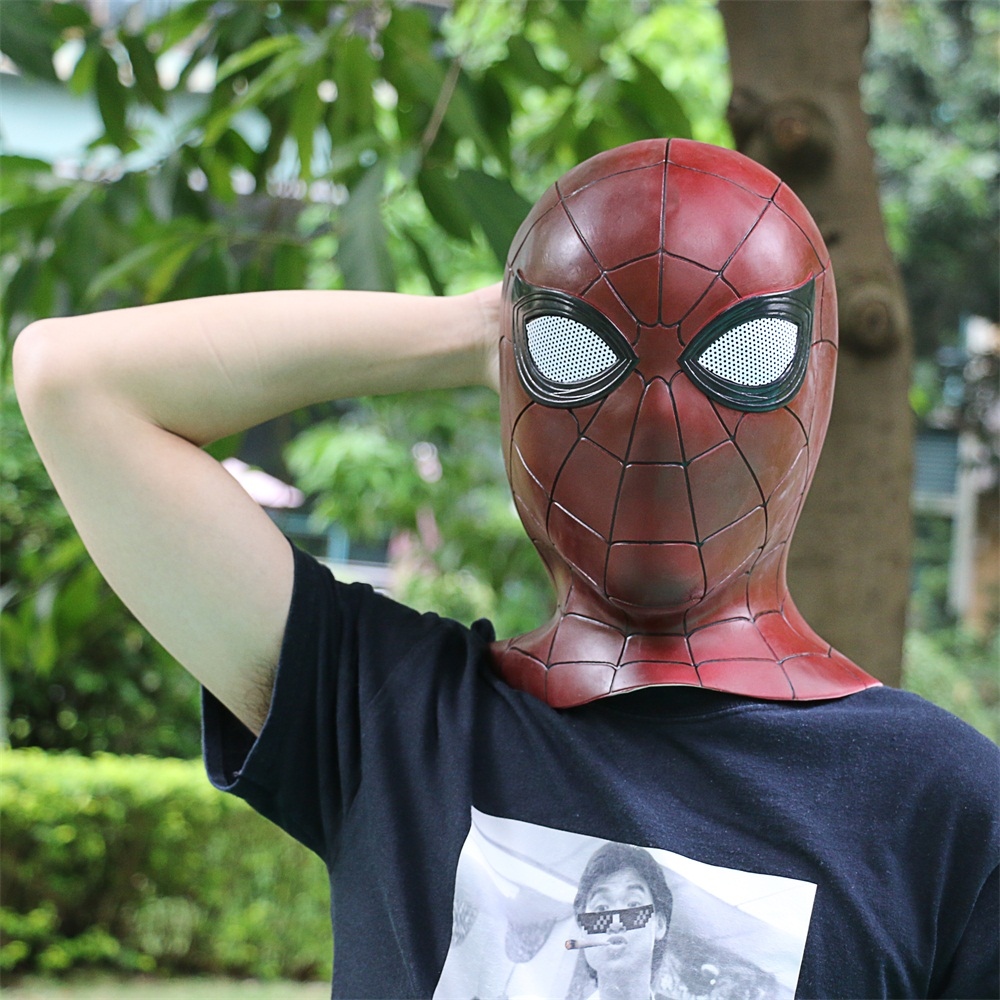 2018 Avengers 3 Infinity War Spiderman Mask Cosplay Iron Spiderman 3D Latex Mask (10)