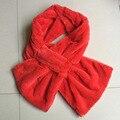 Hermosas Mujeres Bufandas De Piel Sintética Rosa Muchachas del Diseño Natural de Piel Cruz Silenciador Bufanda de Invierno Suave PC058