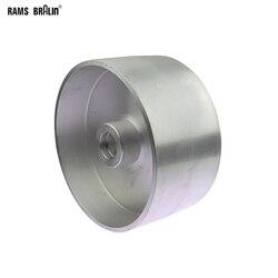200*100 Millimetri Completamente in Alluminio Ruota di Contatto Smerigliatrice a Nastro Parti
