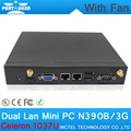 Barato 2 G RAM 160 G HDD Partaker N390B Intel Atom Celeron 1037u Mini PC 1.8 Ghz dupla Nics Ubuntu Mini PC
