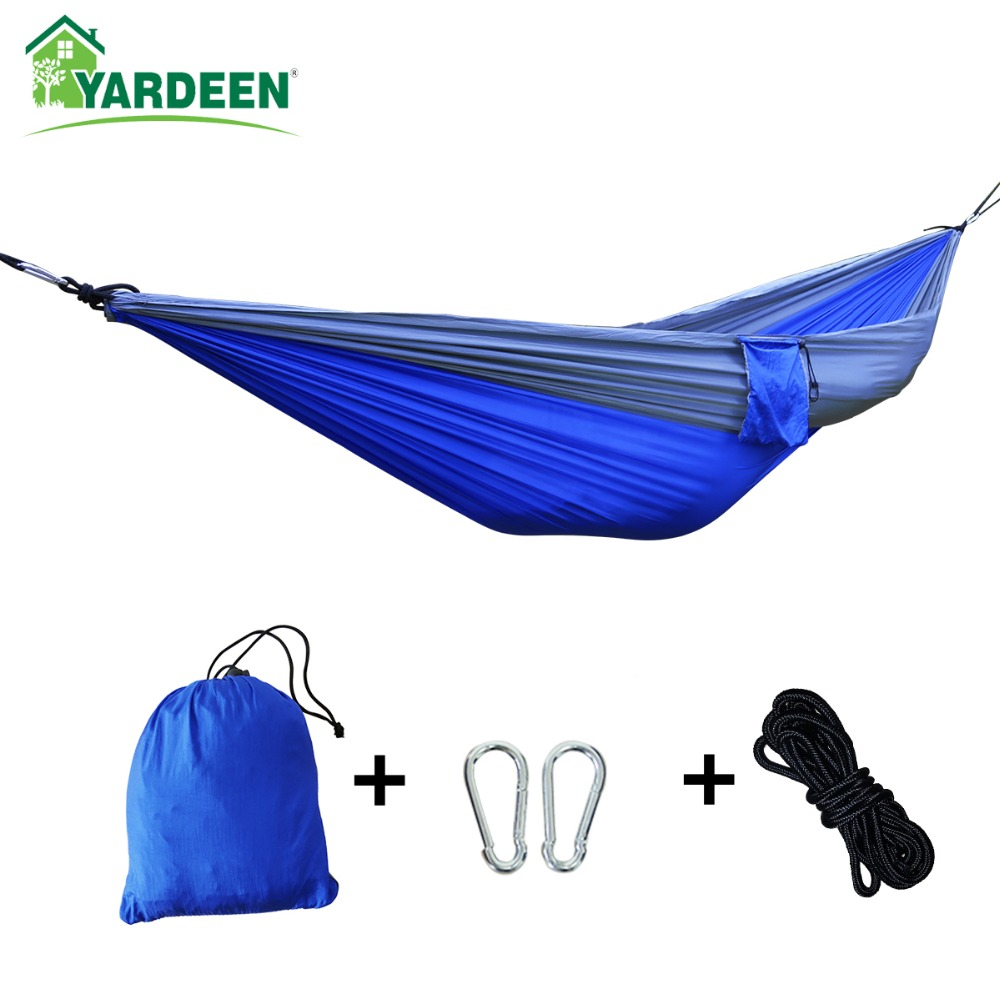 Double & Single 260*140cm Tree Hammocks Camping Indoor Outdoor Portable Parachute Hammocks For Backpacking Survival Travel
