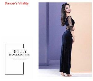 Image 4 - Одежда для танцев живота зима новый топ сексуальный бархат шить топ танец пальто для взрослых женщин