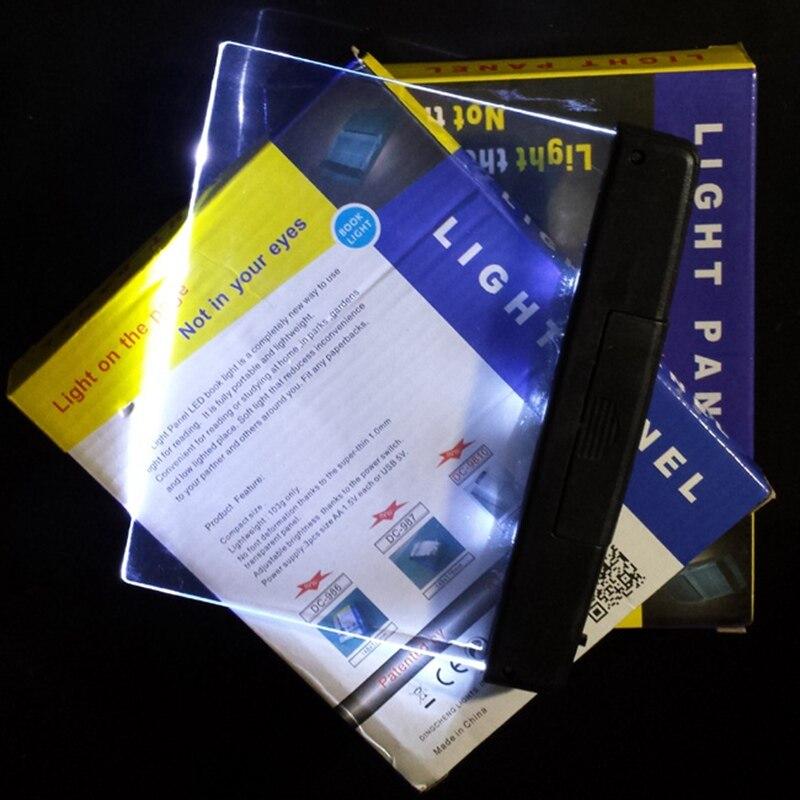 Купить с кэшбэком SK-GT-01 Light Panel Novelty Lighting LED Reading Book Suport 3*AAA battery for book reading in dark free shipping 10pcs