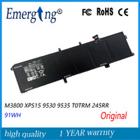 11.1 v 91WH Nova Bateria Do Laptop Original para Dell XPS15 M3800 9530 9535 T0TRM 245RR