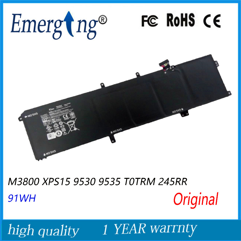 11.1v 91WH New Original Laptop Battery for Dell M3800 XPS15 9530 9535 T0TRM 245RR for dell xps 9530 l522x m3800 brand new d shell bottom dp n 0d24n5