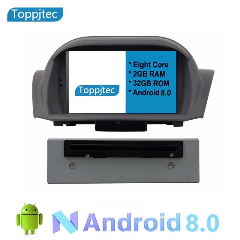 7 восемь ядер Android 8,0 2 г ram 1024*600 автомобильный gps навигация Мультимедиа Видео Радио плеер для FORD FIESTA 2009 2015