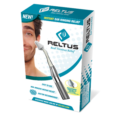 Free Shipping USB Charge Reltus Tinnitus Massager Relief Ear Pain Headaches Massager 6 Massage Tips Multi Therapy Device