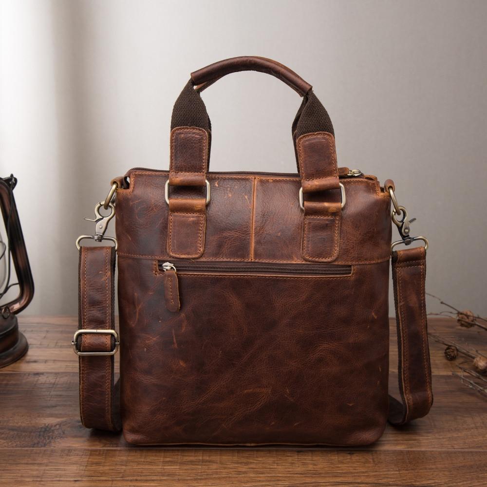 "Men Original Leather Retro Designer Business Briefcase Casual 12 Laptop Travel Bag Tote Attache Messenger Bag Men Original Leather Retro Designer Business Briefcase Casual 12"" Laptop Travel Bag Tote Attache Messenger Bag Portfolio B259"
