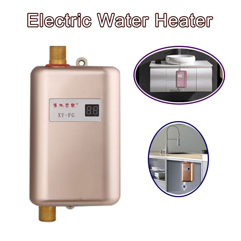 Kbxstart 3400w Continuous Water Heater Wall Mounted Electric Water Heater Thermostat Fast Heating Durchlauferhitzer Dusche 220v