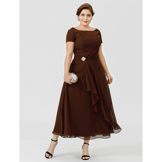 A Line Chiffon Mother of the Bride
