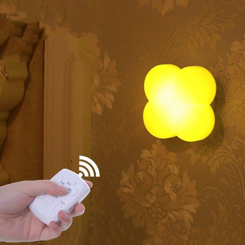 Светодиодный ночник счастливый клевер формы Дистанционное управление синхронизации лампы Дети Спальня детская Гостиная подарок для ребен...