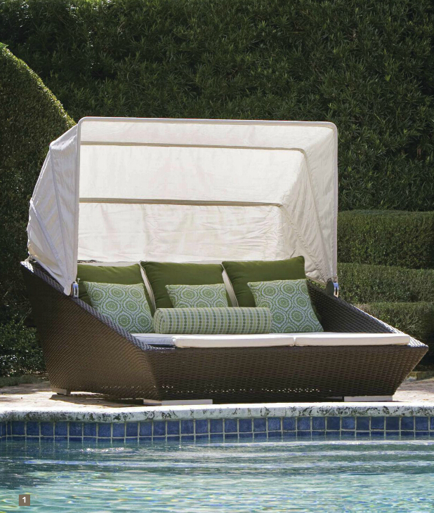 2017 comfortable sun beach woven plastic rattan round outdoor lounge day bed with canopy in garden chairs from furniture on aliexpresscom alibaba group - Garden Furniture Day Bed