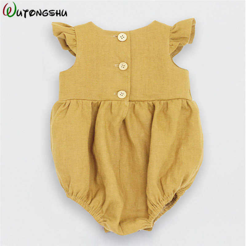 ef63a1070 ... Baby Girl Clothes Baby Romper Cute Linen Cotton Baby Girl Clothes  Spring Summer Jumpsuits Outfits Sunsuit