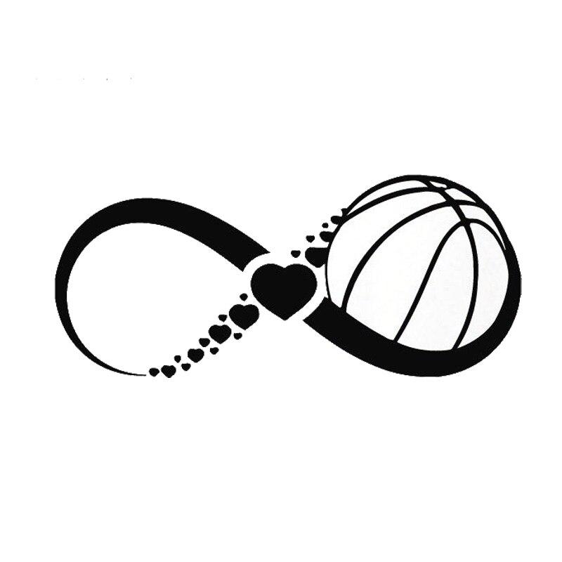 17.7*7.8CM Fashion Infinite love Basketball Bumper Sticker