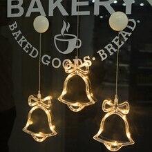 SLTMAKS LED Christmas Decorative для дома Новый год Праздничный свет Олень / Белл / Звезды / Дерево Стеклянные окна Sucker Lamp