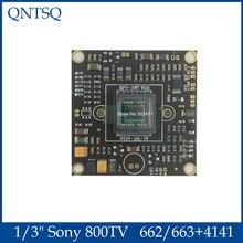 """1/3 """"سوني 663 + 4141 662 + 4141 Effio V CCD لوحة دارات مطبوعة 800TVL الإضاءة 0.0003 لوكس للكاميرا CCTV التناظرية WDR"""