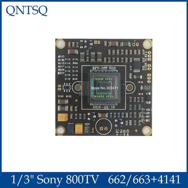 "1/3 ""Sony 663 + 4141 662 + 4141 Effio V CCD PCB 보드 800TVL 조명 CCTV 아날로그 WDR 카메라 용 0.0003 Lux"
