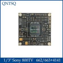 "1/3 ""Sony 663 + 4141 662 + 4141 Effio V Ccd Pcb Board 800TVL Verlichting 0.0003 Lux Voor cctv Analoge Wdr Camera"