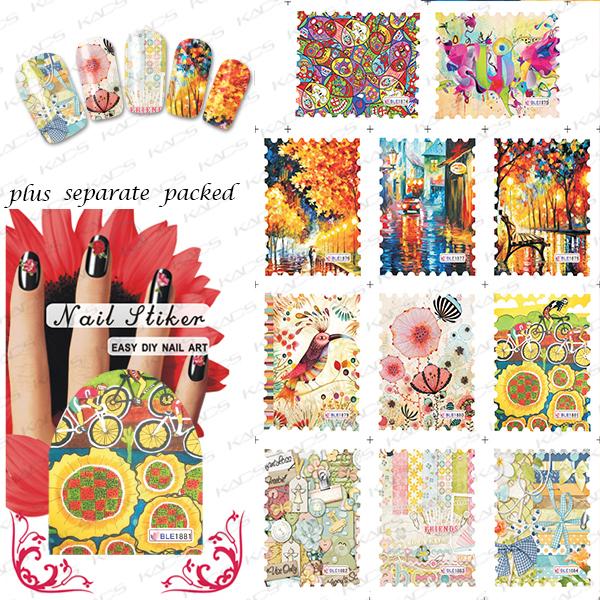 BeautyNailArt 50 Unids/lote BLE1863-1884 agua Manicura pegatinas sellos serie de países Manicura Manicura especial encantadora