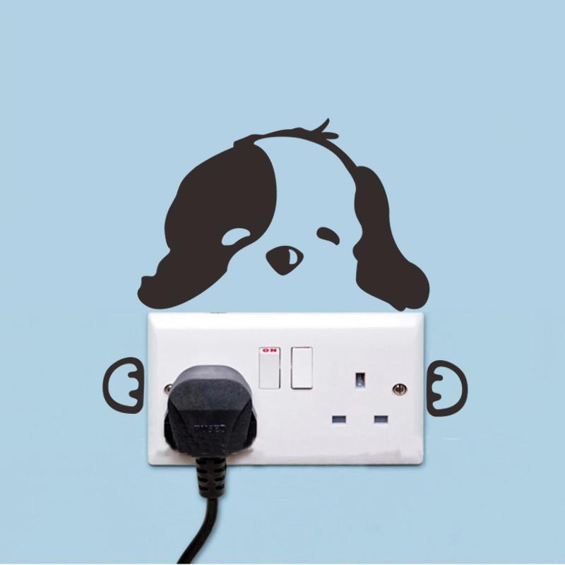 DIY Funny Cute Black Cat Dog Rat Mouse Animls Switch Decal Wall Stickers DIY Funny Cute Black Cat Dog Rat Mouse Animls Switch Decal Wall Stickers HTB1S285JVXXXXXzXVXXq6xXFXXX0
