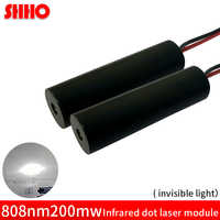Rabatt anpassbare unsichtbare licht 808nm 200 mw infrarot dot laser modul 12*42mm IR signal sender radar im bereich IR piont