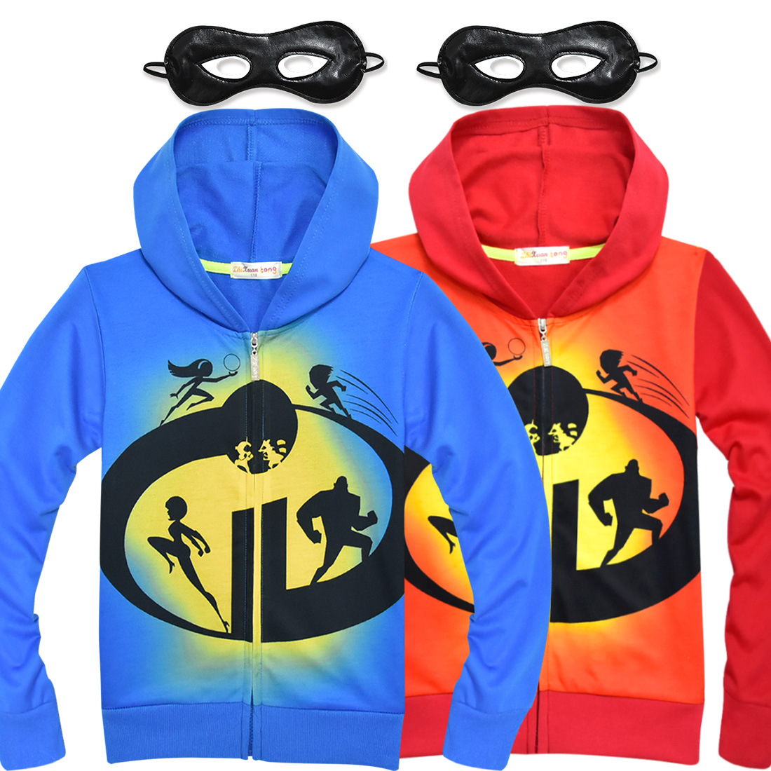 The Incredibles 2 Hoodie Kids Child Cartoon Sweatshirt Boy's Girl's Top Outwear Coat Halloween Superhero Party Cosplay Costume