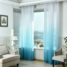 Modern Colorful Voile Curtains for Living Room