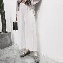 H.SA Women Wide Leg Pants Capris Summer Leggings black White Pink Pleated Cool Ladies Loose Pants Pleated Pantlone Femme 2017