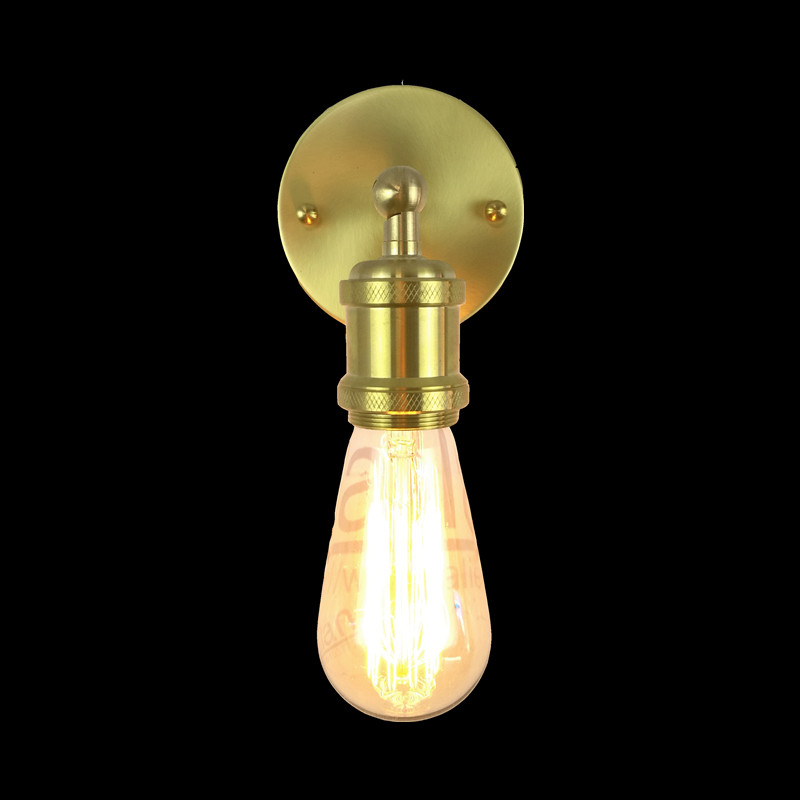 Modern Vintage Loft Adjustable Industrial copper cone shade Wall Light retro brass wall lamp country style Sconce Lamp Fixtures brass cone shade pendant light edison bulb led vintage copper shade lighting fixture brass pendant lamp d240mm diameter ceiling