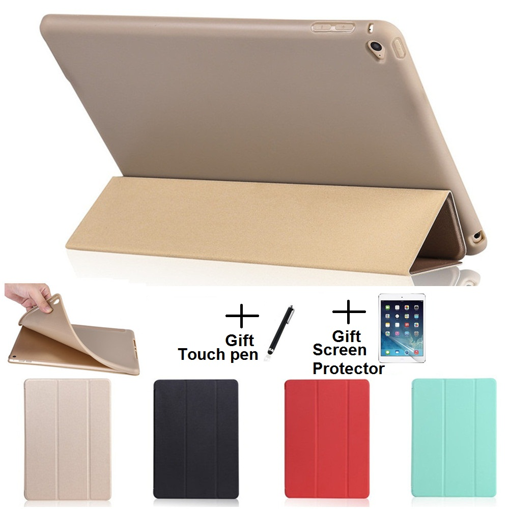 Opaque Soft Material Sleep Wake Up Holder Protective Cover Case for iPad Air 1 2 iPad