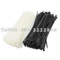 350 x Replacing 300mm x 8mm Cable Tie Bundle Nylon Fastener Black White