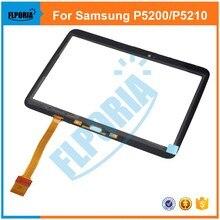 Panel Táctil de la tableta Para Samsung Galaxy Tab 3 P5200 P5210 10.1 Pantalla Externa Táctil de Cristal con Digitalizador Flex Cable Asamblea