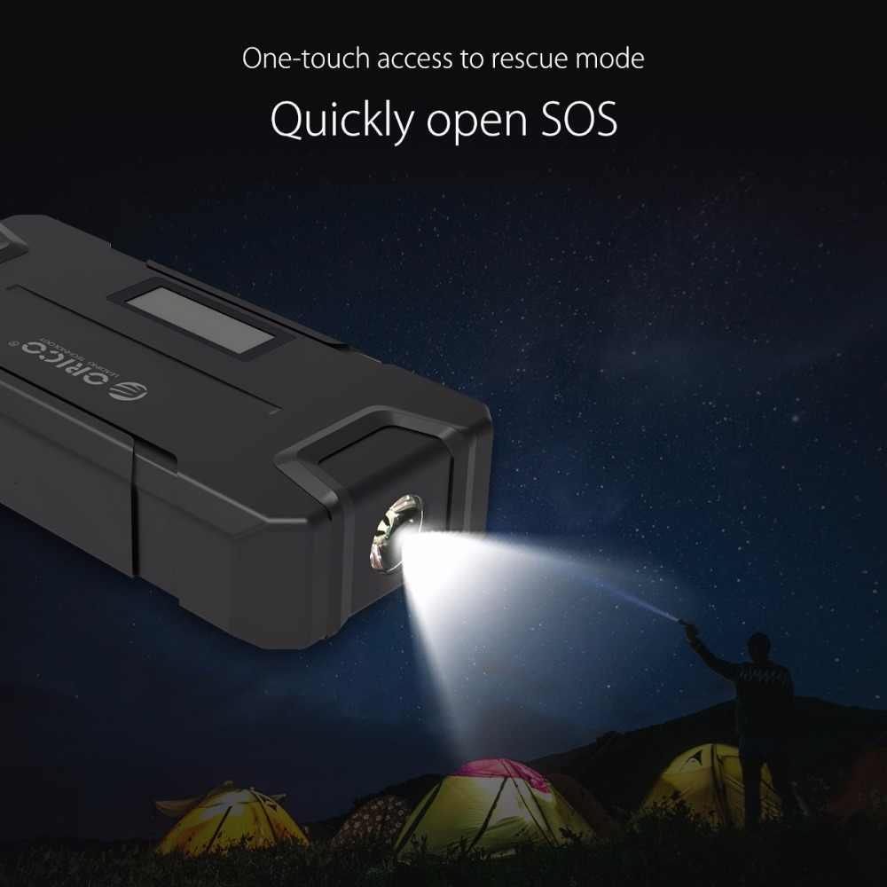Orico CS2 12000 MAh Mini Vehicel Power Bank Portable Baterai Booster Darurat Buster Power Bank dengan Senter untuk Ponsel Mobil
