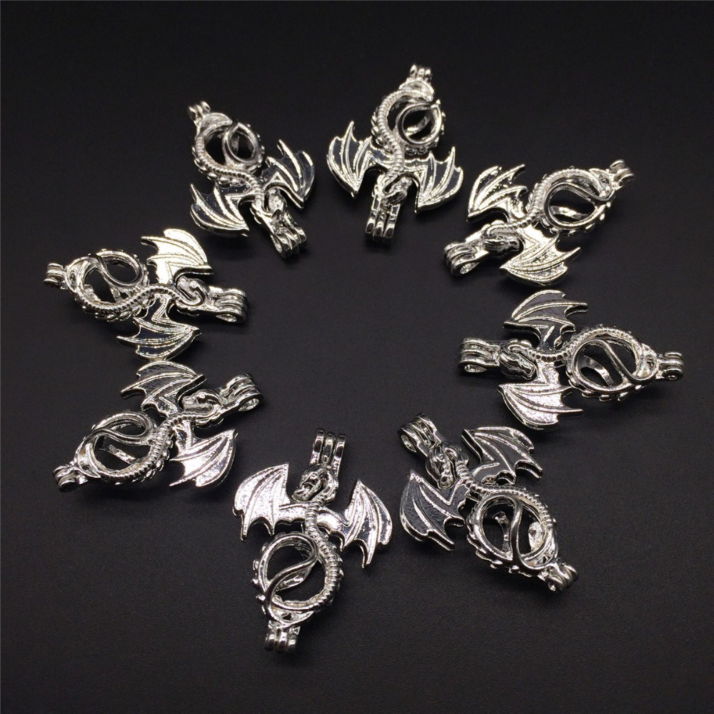 8pcs bright silver creative flying dragon jewelry making for Earring supplies for jewelry making