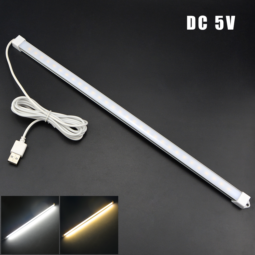 1Pcs USB Cable Powered DC 5V Book Lights 30 leds SMD2835 LED lamp Night Reading LED Bar light Tube