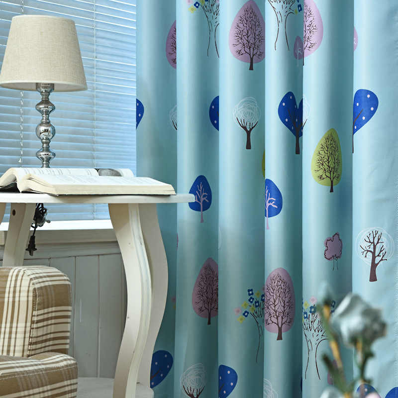 Children's Room Curtains  Cartoon Full Shading Printing Curtains for Living Dining Room Bedroom