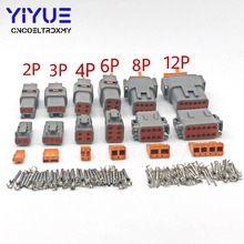 1 Sets Deutsch DTM 2-12P Male Female Auto Waterproof Connector Automotive Sealed Plug With Pins цена и фото