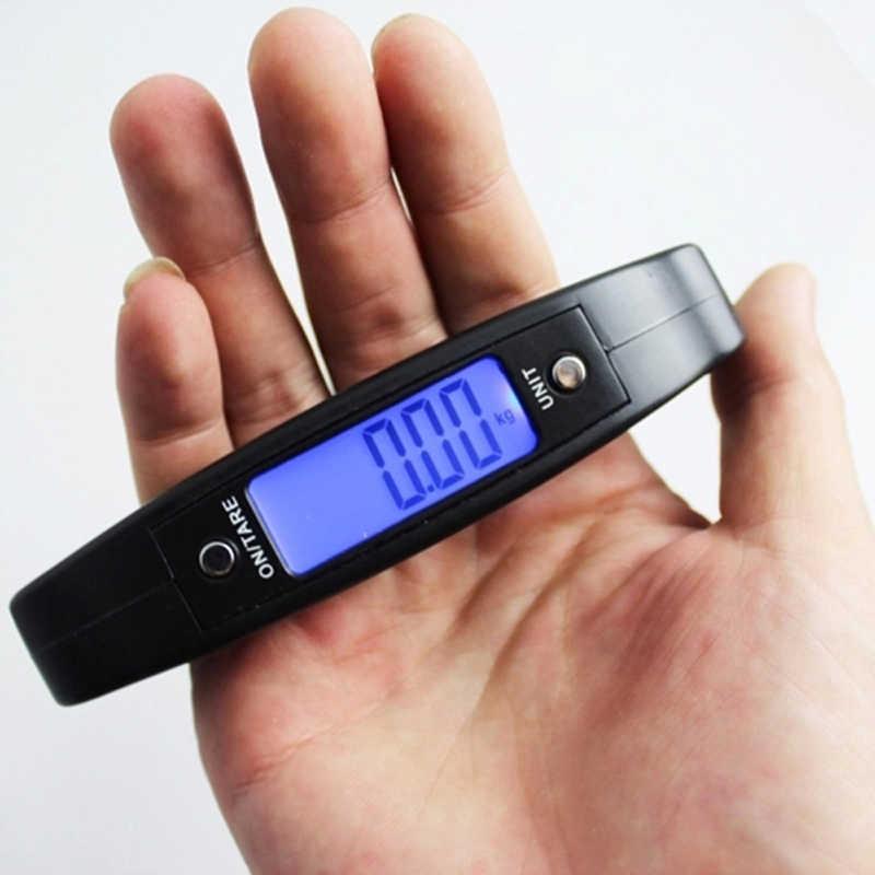 Mini Balance numérique à main Portable, hameçon de poisson de 50Kg et 10g, échelle de pesage électronique, Balance du bagage, présentoir,