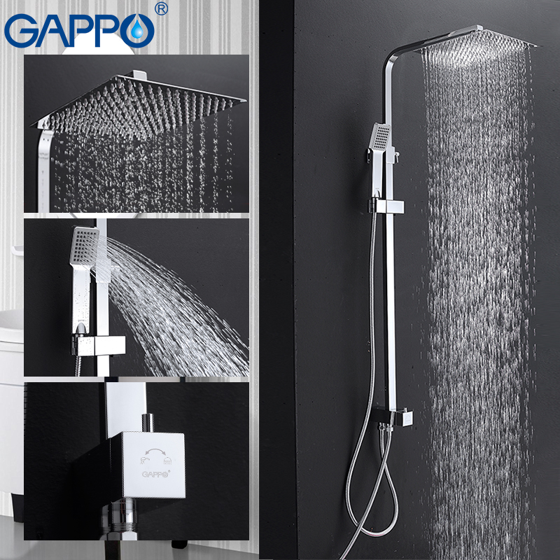 GAPPO shower faucet Bathtub tap mixer bath faucet mixer hand shower rainfall shower set shower system torneira do chuveiro punho gappo classic chrome bathroom shower faucet bath faucet mixer tap with hand shower head set wall mounted g3260