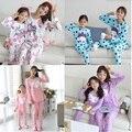 Multi-Estilo de La Familia Conjunto Polka Dot/de Dibujos Animados de Impresión Pijamas Ropa de la Familia Entre Padres E Hijos Ropa Madre E Hija Ropa Sets FF00