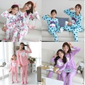 Multi-Style Family Set Polka Dot/Print Cartoon Pajamas Family Clothing Parent-Child Clothes Mother Daughter Clothing Sets FF00