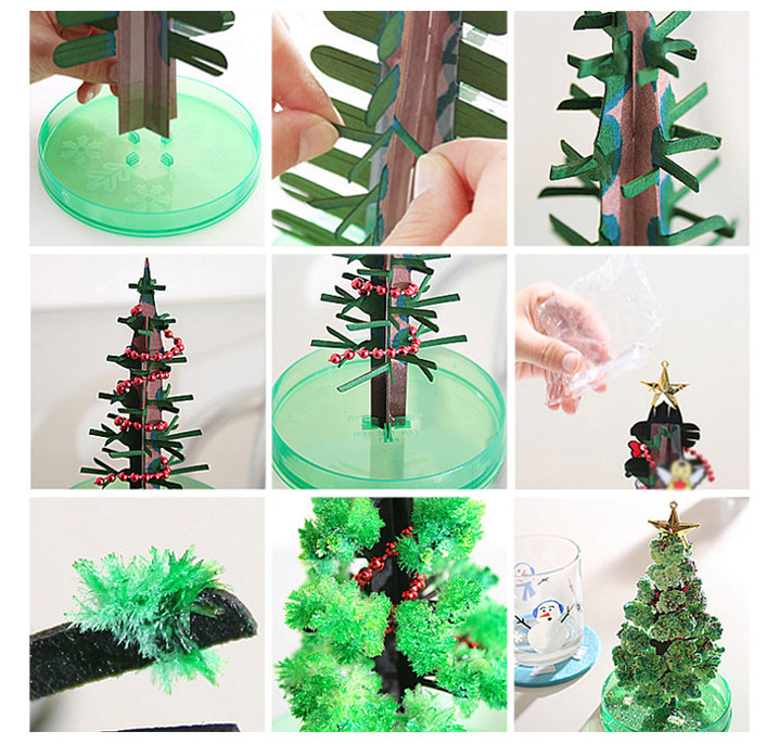 2019 170mm H Green Magic Growing Paper Crystal Tree Mystically Funny Christmas Trees Educational Kids Toys For Children Novelty in Gags Practical Jokes from Toys Hobbies