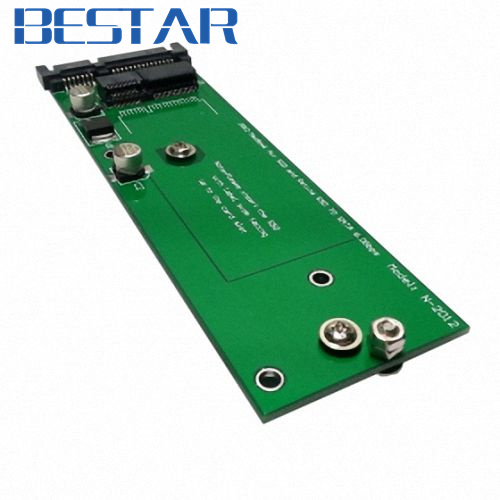 Adapter card PCBA for MacBook 2012 Air 17 7pin SSD HDD to SATA 22Pin Hard font