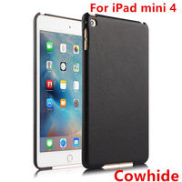 HUWEI Case Cowhide For IPad Mini 4 Protective Shell Smart Cover Genuine Leather For Apple Ipad