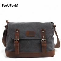 2016 Men Messenger Bags High Quality Canvas Shoulder Bag Men S Travel Bags Fashion 13 Inch