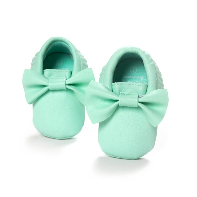 Unisex Baby Girls Boy 0-18Months Toddlers Soft Sole Shoes Tassel PU Leather  Crib Bow Shoe First Walkers ... 316280400a43