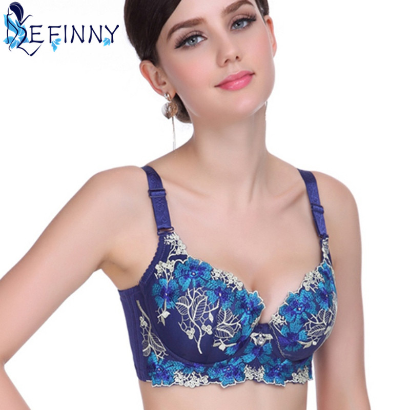 9077a246d99e5 2018 Newest Sexy Women Push Up Bra Thin Elegant Chinese Style Embroidery  Collection Breast Adjusting Lingerie BC Cup Underwear