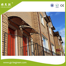 YP80100-ALU 80x100cm 80x200cm 80x300cm commercial unbreakable polycarbonate window awning door canopy